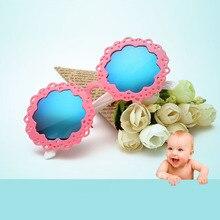 Jurui niños Gafas de sol UV400 Niños Niñas al aire libre Seguridad Gafas Sol gafas ronda flexible gafas oculo infantil j70 #-01