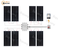 Boguang 1200w Grid system kit 8*150w solar panel Photovoltaic module cell Micro inverter cable for home roof Network power