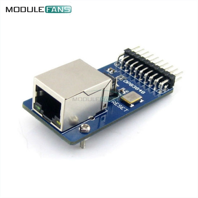 DP83848 Ethernet Physical Layer Transceiver RJ45 Control Interface Board Embedded WEB Server RJ45 Module Diy Electronic