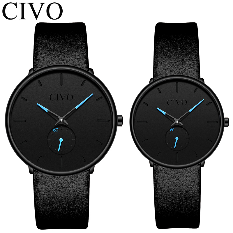 Couple Watches CIVO Quartz Wrist Watch For Men And Women Fashion Casual Wrist Watches Men Sports Waterproof Quartz Male ClockCouple Watches CIVO Quartz Wrist Watch For Men And Women Fashion Casual Wrist Watches Men Sports Waterproof Quartz Male Clock