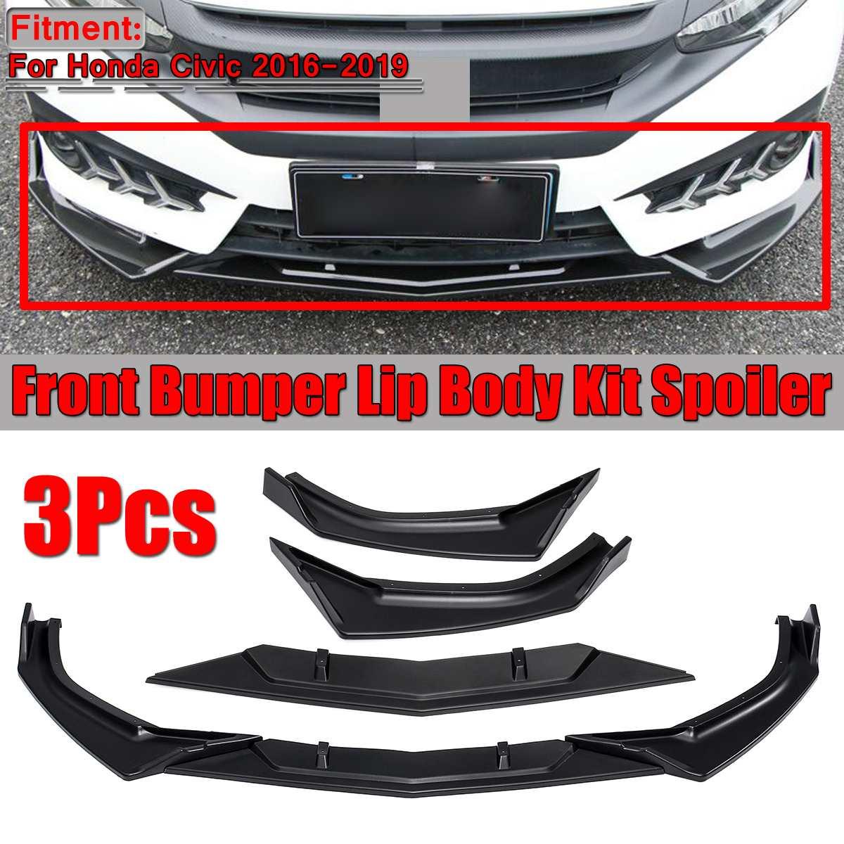 Matte Black Rear Bumper Skirts Protect Cover For Honda Civic Sedan 2016-2018