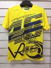 Бесплатная доставка 2017 Новый Валентино Росси VR46 для YAMAHA Гонки Черный MotoGP Мужская футболка VR46 для Yamaha M1 быстрой сухой