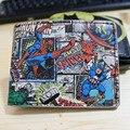 Чудо бумажник капитан америка тор человек - паук халк бумажник короткий мультфильм мужчин и женщин мода бумажник DFT-1190