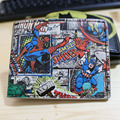 Marvel carpeta capitán américa thor spider man hulk cartera corta de dibujos animados hombres y mujeres cartera de moda DFT-1190