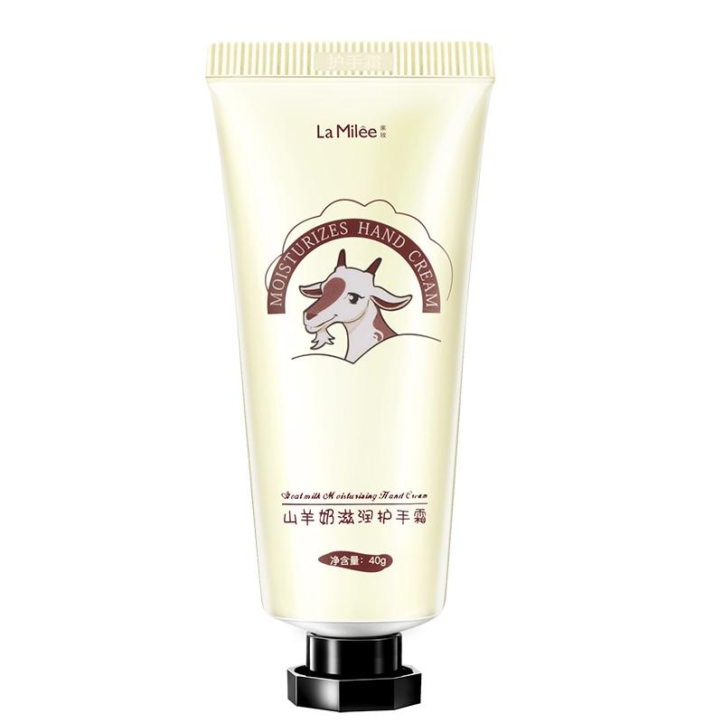 LAMILEE GoatMilk Hand Cream Anti-Dryness Moisturizing Anti-chapping whitening Hand care 40g Hydrating for Winter Repair 5