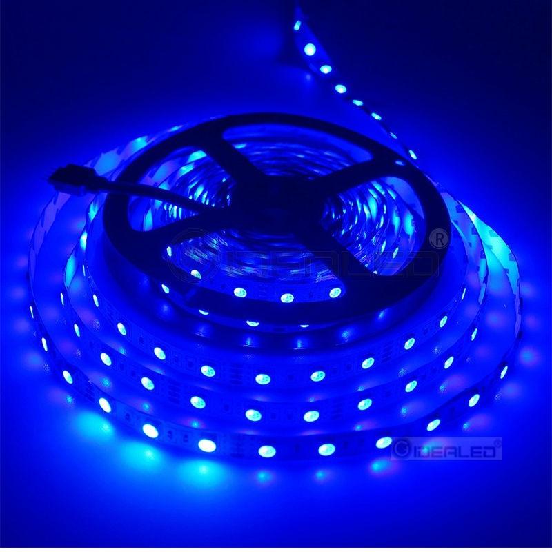 DIY Home 5m vadītais lentes apgaismojums 5050 RGB ūdensnecaurlaidīgs RGB 60 LED / m 300gb DC12V vadīts Strip light 4 pins lentes gaisma