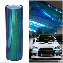 For Car Decoration 1pc Chameleon Colorful Blue SUV Headlight Taillight Vinyl Tint Film Wrap 78x12inch Mayitr