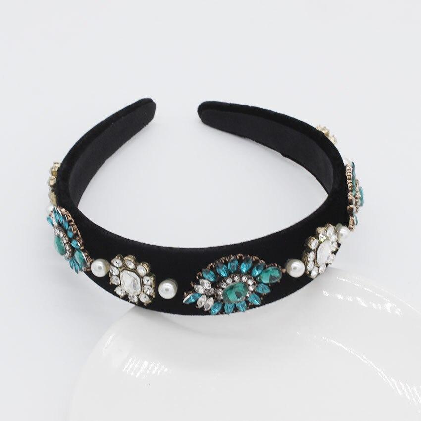 Jewel Headband for Women Diamond Baroque Pearl Bridal Hair Accessories Luxury Ladies Elegant Vintage Bride Rhinestone Hairband in Women 39 s Hair Accessories from Apparel Accessories