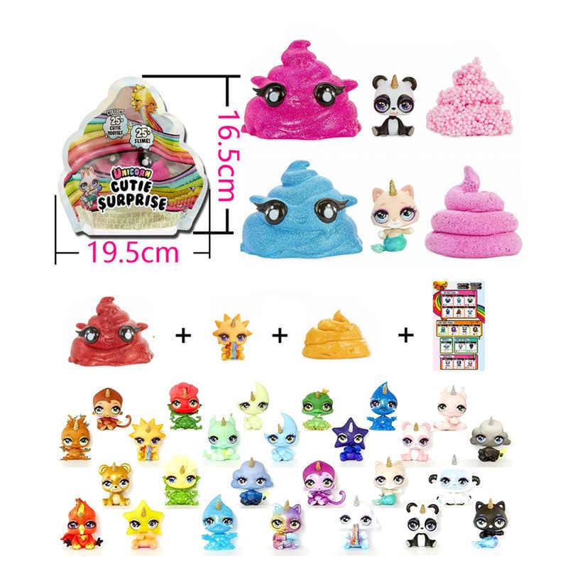 ألعاب مفاجأة على شكل وحيد القرن من الوحل ألعاب لتخفيف التوتر لعبة أطفال مكونة من ضغط للأطفال مجموعة ألوان من الطين لعبة صغيرة وحشية ملونة