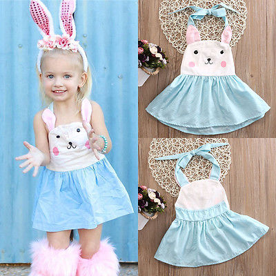 Toddler Kids Baby Girls Little Bunny Summer Party Dress Sundress Clothes Outfits rosemary wells bunny party