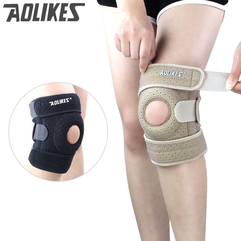 Breathable Knee Pads With 4 Springs Support Silica Gel Brace Protect Adjustable Patella Cycling/Running Knee Protector Rodiller