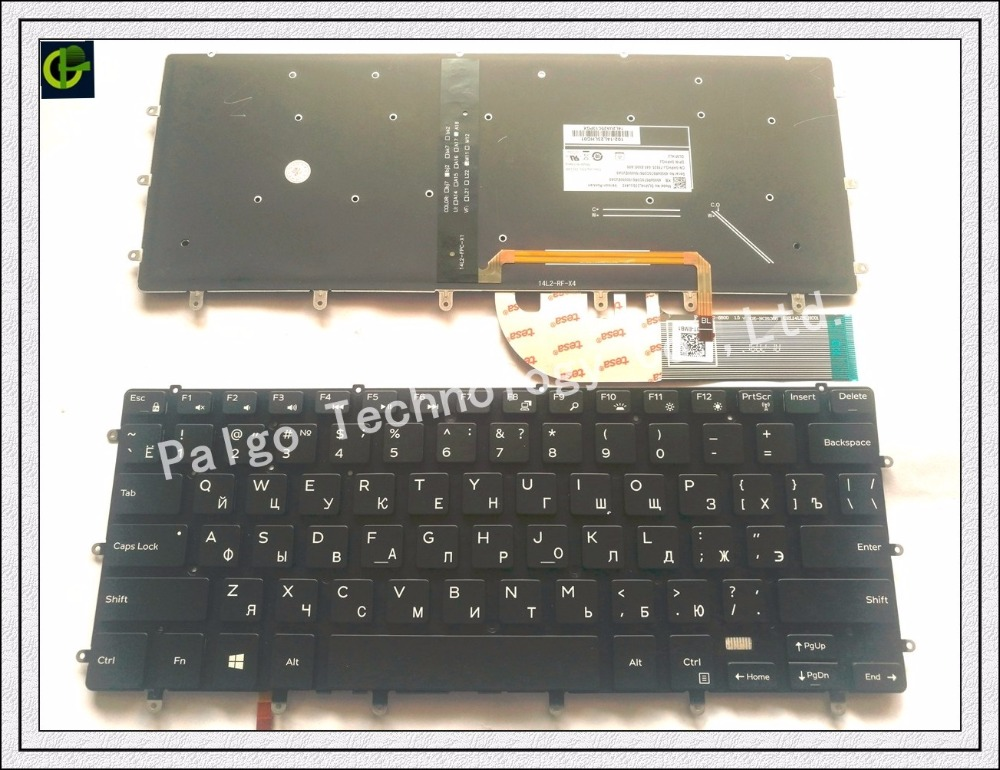 Russian Keyboard for Dell XPS 15 9550 RU 0HPHGJ Black with backlit термос biostal nb 1000 c b