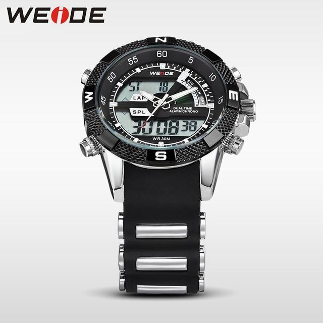 WEIDE Fashion Chronograph Sports Men's Male Watches Top Brand Luxury Quartz Watch Reloj Hombre Clock Male hour Relogio Masculino