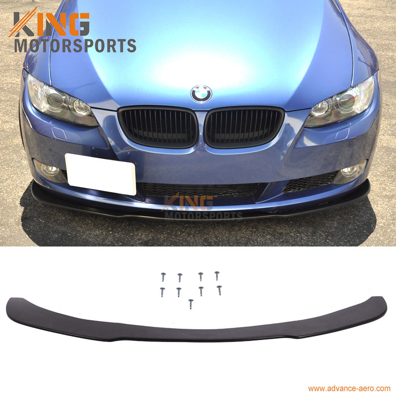 Fit For 2005 2006 2007 2008 2009 2010 2011 2012 2013 BMW E90 E92 Front Bumper Lip Under Spoiler Splitter PU fit 05 06 07 08 09 10 11 12 13 chevy corvette c6 base front bumper lip splitter spoiler pu