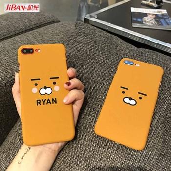 JiBan Korea Super Lovely cartoon Ryan bear lion Hard Plastic phone Case Cover For Iphone 6 6plus 6S plus for iphone 7 7plus Capa Онихомикоз