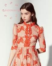 EASYSMALL Zimmer Frauen kleid Mode ferien Böhmischen stil high-end Vestidos party abend streetwear Hohe Taille Kleider