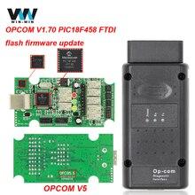 OPCOM V5 Для Opel OP COM 1,70 флэш-прошивка обновление OP-COM 1,95 PIC18F458 FIDI CAN BUS OBD OBD2 сканер Автомобильный Диагностический авто инструмент