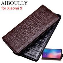 Чехол AIBOULLY для Xiaomi Mi 9, мягкий силиконовый чехол-книжка из натуральной кожи, чехол для Xiaomi Mi 9SE, жесткий чехол, чехол для телефона