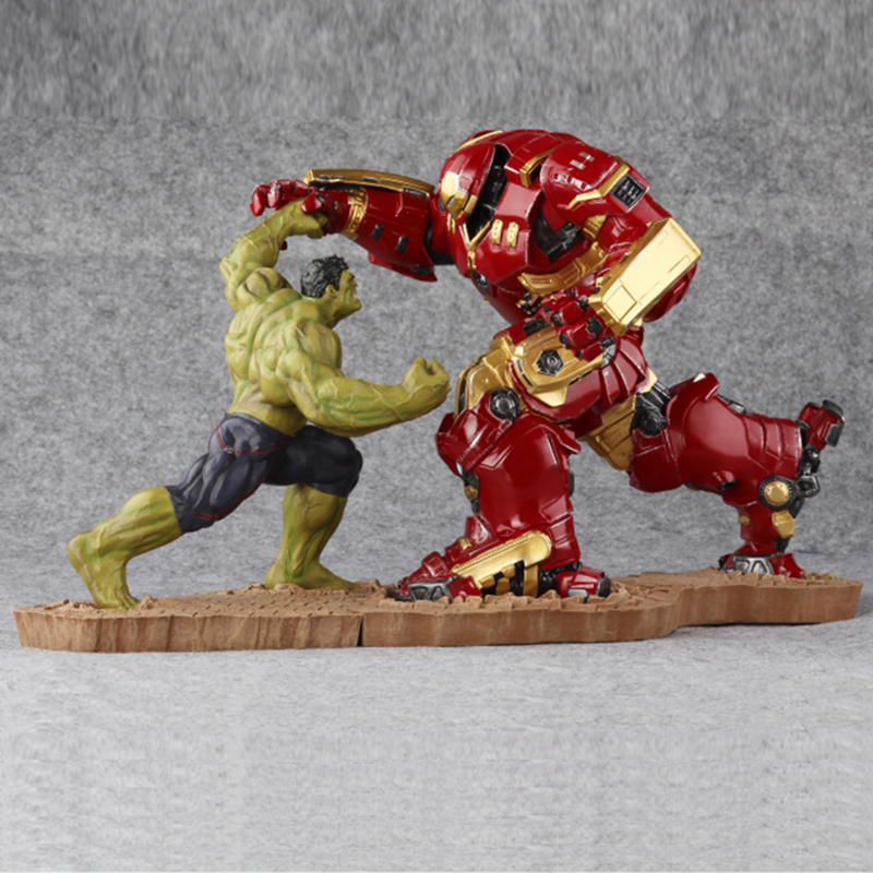 The Avengers Iron Man Mk44 Hulkbuster Armor Hulk Figurine Model Statue Resin Arts And Crafts Bronze Color Home Decor Gift