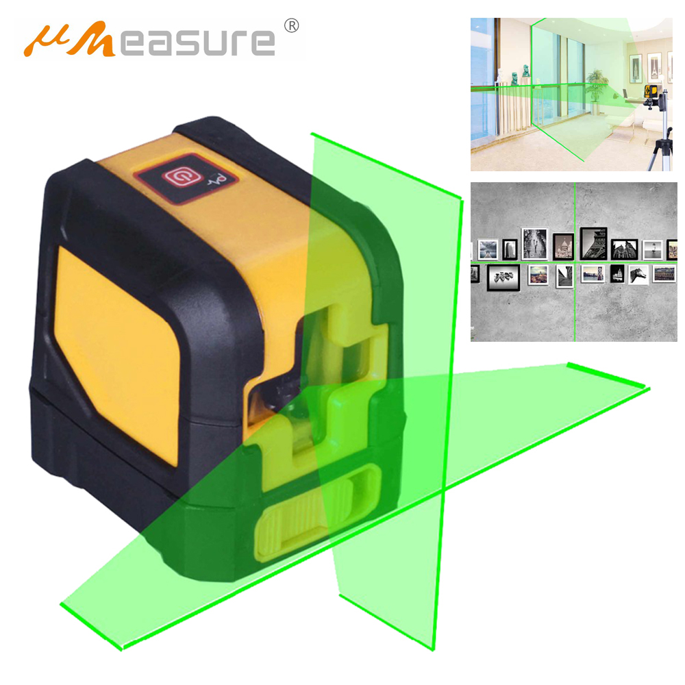 2 Line 15mW Mini Measuring Instrument Cross Line Laser Level Green Light Beam Self leveling laser level Band Mounting Clamp mai spectrum mp110 laser marking instrument cast line instrument line level instrument whole sale retail