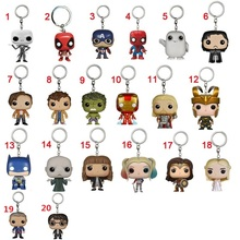 Anime Action Figure font b Toy b font Keychain Spider Iron Man Captain America Batman Hulk