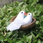 Artificial Peace Pigeon and Nest For Wedding for Mall Home Gardening Decoration Pigeon Suit Two White Pigeons One Nest