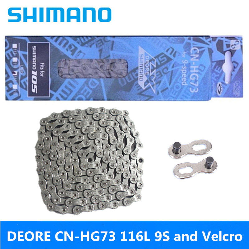 SHIMANO DEORE CN-HG73 116 Section 9 Speed Black Gray Mountain Bike High Quality Chain Latest Gift Magic Buckle