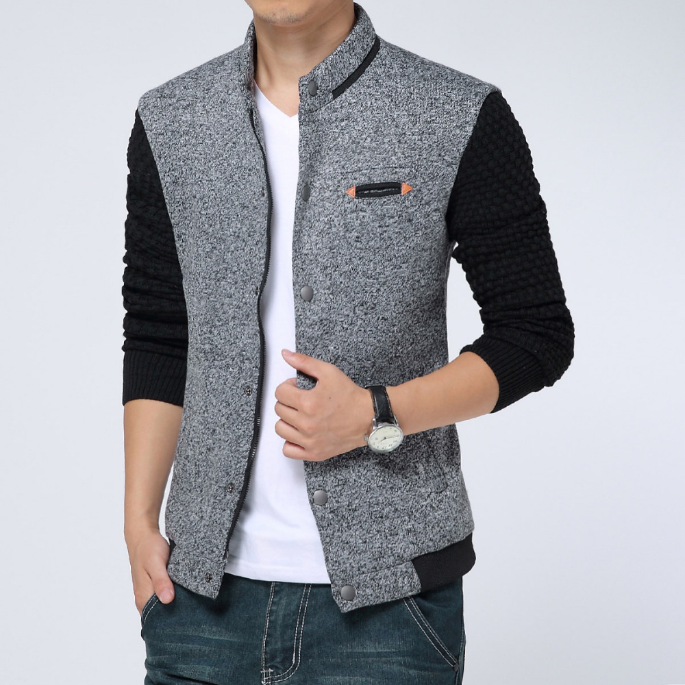 2015 New Spring Autumn Mens Jackets Cotton Outwear Men's Coats ...