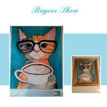 Cat Picture 5D DIY DiamondArt