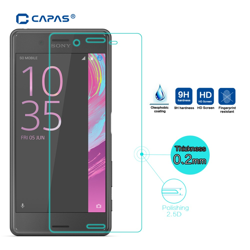 b2a8092ba3ad0 Original CAPAS Tempered Glass for Sony Xperia X Performance Dual F8132  Screen Protector Glass Protective Film ExplosionProof