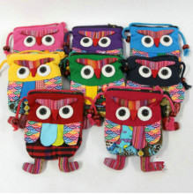 New Fashion Animal Appliques small Children font b bag b font Hot Colorful Owl Appliques font
