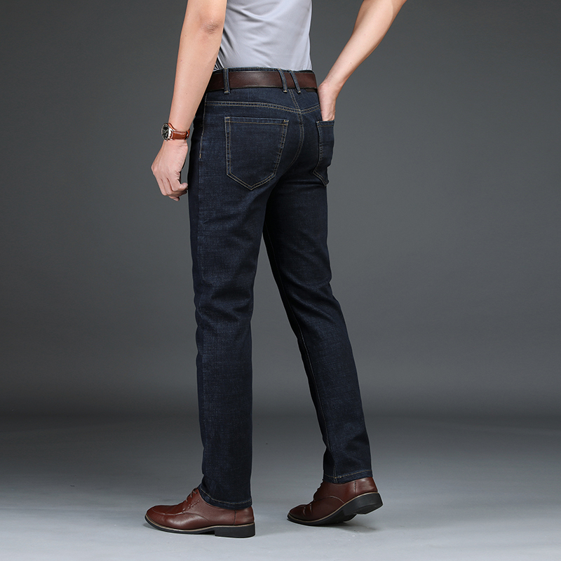 Men's Clothing Odinokov Jeans Masculinocoated Straight Heavyweight Full Length Smart Casual Distressed Jeans Men Overall Jeans Hommes