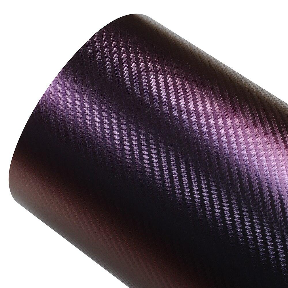 75 152cm Auto Body Films Red Copper Carbon Fiber Vinyl