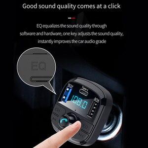 Image 4 - Onever Bluetooth 5.0 zestaw samochodowy z nadajnikiem Fm MP3 Modulator ładowarka samochodowa QC3.0 podwójne USB z ekranem LED kraty tryb EQ 2019 nowy