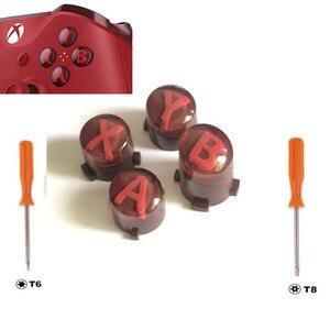 Image 3 - Personalizado para xbox um controlador de elite magro kit botão abxy botões bala peças reparo mod kit substituição com t8 t6 parafuso driver