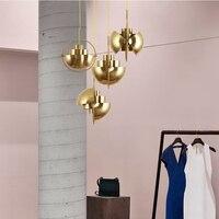 Nordic Металл Золотой кулон свет Multi полу круговой подвесной светильник Кухня Гостиная подвесной светильник светильники, освещение для дома