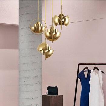 Nordic Metal oro colgante luz Multi semi circular lámpara colgante cocina Sala colgante lámpara accesorios de iluminación para el hogar