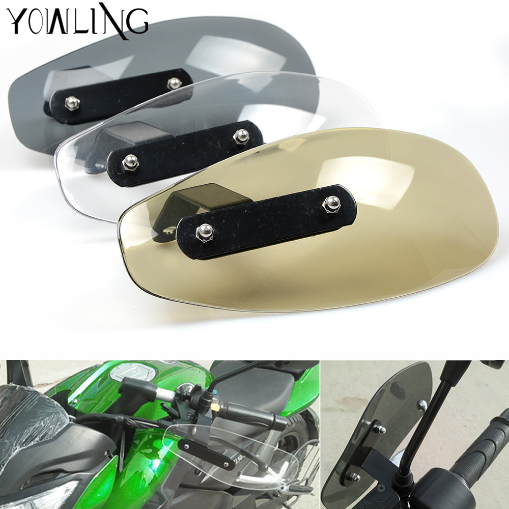 motorcycle accessories wind shield handle hand guard ABS transparent handguards FOR SUZUKI GSXR600 Honda HORNET 250 600 900 atv motorcycle wind shield handle hand guards motocross transparent handguards for honda cbf600 sa cbf1000 a cb1100 gio nc750