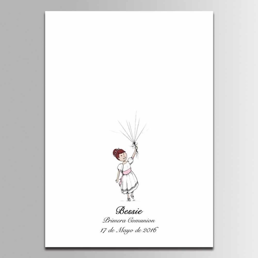Гостевая книга Baby Shower День рождения украшения маленькая принцесса Comunion Decoraction отпечаток пальцев подпись книга подарок на крестины
