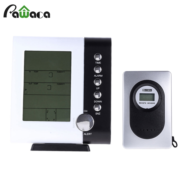 Digital LED Display Weather Forecast Alarm Clock Temperature Humidity  Tester Indoor Outdoor LCD Thermometer Snooze Clock 333fa5494b