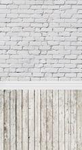 HUAYI papel tijolo piso de madeira Pano de Fundo cenários de fotografia Pano de Fundo adereços Recém-nascidos Fotografia Fundos de papel kp-352