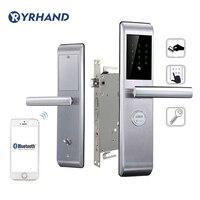 Akıllı telefon Bluetooth Kapı Kilidi APP Kombinasyonu, Kod Dokunmatik Ekran Tuş Takımı Şifre Akıllı elektronik dış kapı kilidi