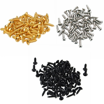 50 Pcs Electric Guitar Bass Pickguard Mounting Screws for FD ST TL LP SG Guitar Bass 5pcs electric guitar pickguard for yamaha pacifica 112v replacement 3ply white pearl