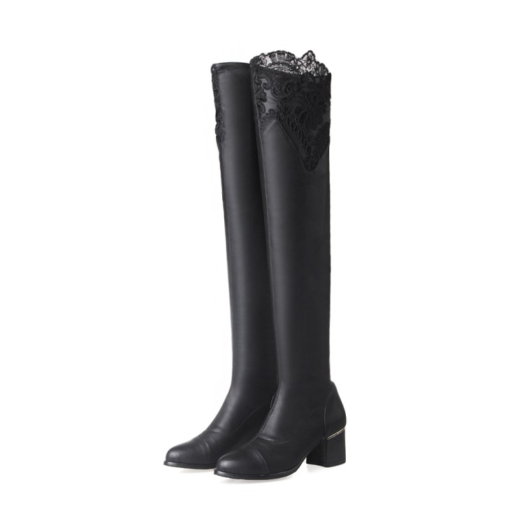 ФОТО Big Size 34-46 Over the Knee Boots for Women Sexy High Heels Long boots Winter Shoes Ponited Toe Platform Knight  Boots 7340