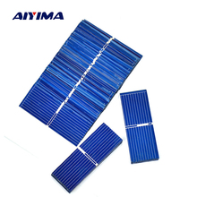 Aiyima 100pcs DIY Solar Panel 52x19MM Solar Cell Polycrystalline Silicon Solar Panel For Phone Charging