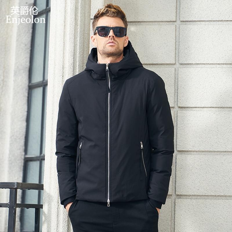 Enjeolon 브랜드 겨울 면화 패딩 후드 jcacket 남자 두꺼운 후드 파카 코트 남성 누비 이불 겨울 자켓 코트 3xl mf0638-에서파카부터 남성 의류 의  그룹 1