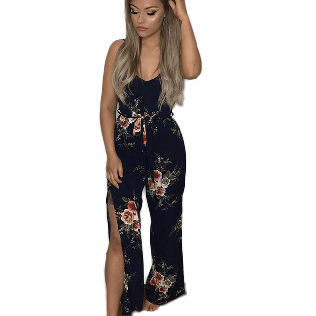 8665a3212f2 Fashion Rompers Womens Jumpsuit Bodysuit Women Elegant Summer Print Clothes  Party Club Sexy Bodycon Casual Playsuit overalls