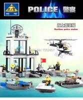 Hot Sale Toys Kaizi Maritime Police Station Building Blocks Set Compatible With Lego