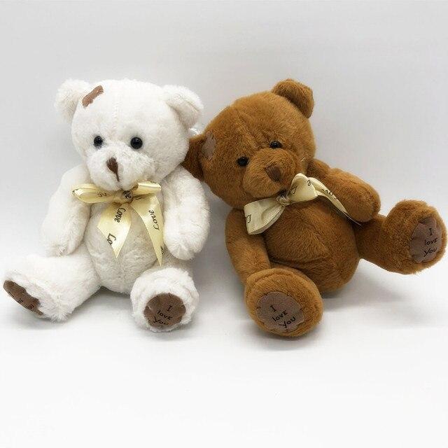 18cm 1pc Amazing Patch Bear Soft Plush Toys Stuffed Animal Teddy Bear Doll Birthday Christmas Gift Kids Brinquedos Baby Toy Uncategorized Decoration Stuffed & Plush Toys Toys
