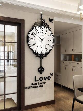 Personnalité nordique créative mode horloge moderne minimaliste atmosphère salon maison pendule Art tendance horloge